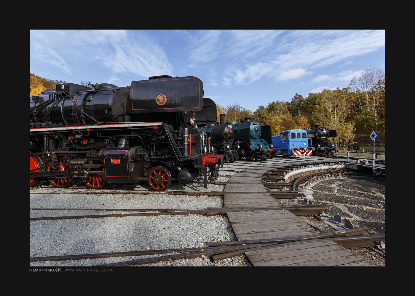 Photograph from railway (railroad) museum in Luzna near Rakovnik in Czech Republic.