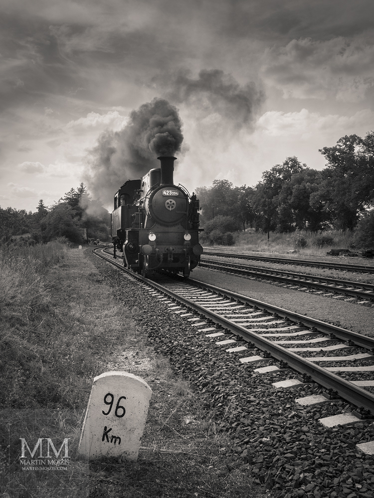 Fine Art black and white photograph of the steam locmotive. Martin Mojzis.