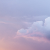 Large format fine art photograph of beautiful colorful storm cloud.