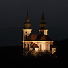 Large format Fine Art photograph of landscape with illuminated church. Martin Mojzis.