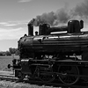 Back and white fine-art photograph of steam locomotive. Martin Mojzis.