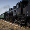 Fine-art large format photograph of smoking steam locomotive. Martin Mojzis.