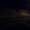 Large format, fine art photograph of  railway at night. Martin Mojzis.